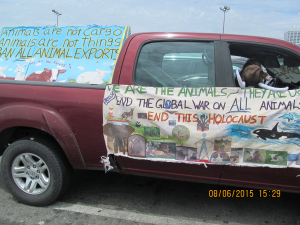 Mobile banner will again ride for the walk for farm animals.